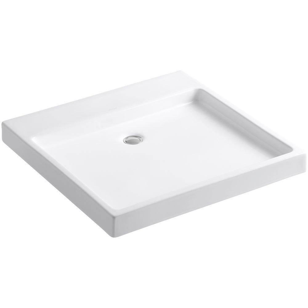 KOHLER Purist Wading Pool Fireclay Vessel Sink in White