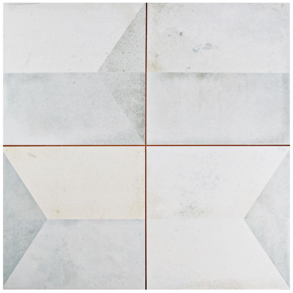 Merola Tile Geomento 17-5/8 in. x 17-5/8 in. Ceramic Floor and Wall Tile (11.02 sq. ft. / case)