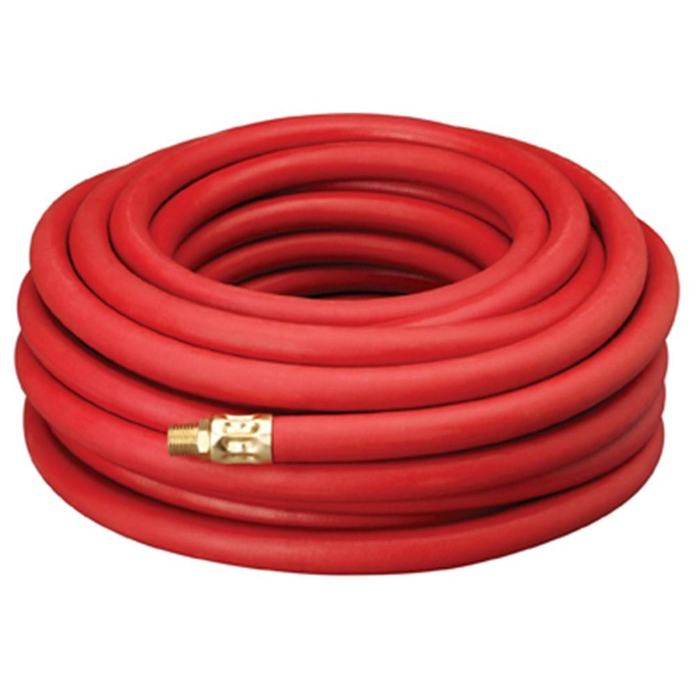 Amflo 1/2 in. x 50 ft. Red Rubber Hose with 1/2 in. 300 psi NPT Fittings