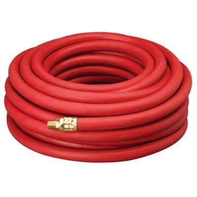 1/2 in. x 50 ft. Red Rubber Hose with 1/2 in. 300 psi NPT Fittings