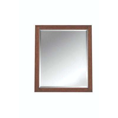 Manor Grove 28 in. W x 33 in. H Framed Wall Mirror in Tobacco