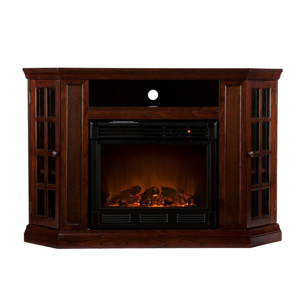 Southern Enterprises Narita 48 in. Convertible Media Console Electric Fireplace in Espresso