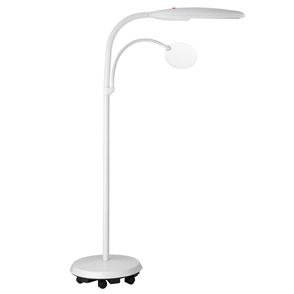 Daylight 44 in white easy twist floor lamp u23030 01 the home depot white easy twist floor lamp mozeypictures Choice Image