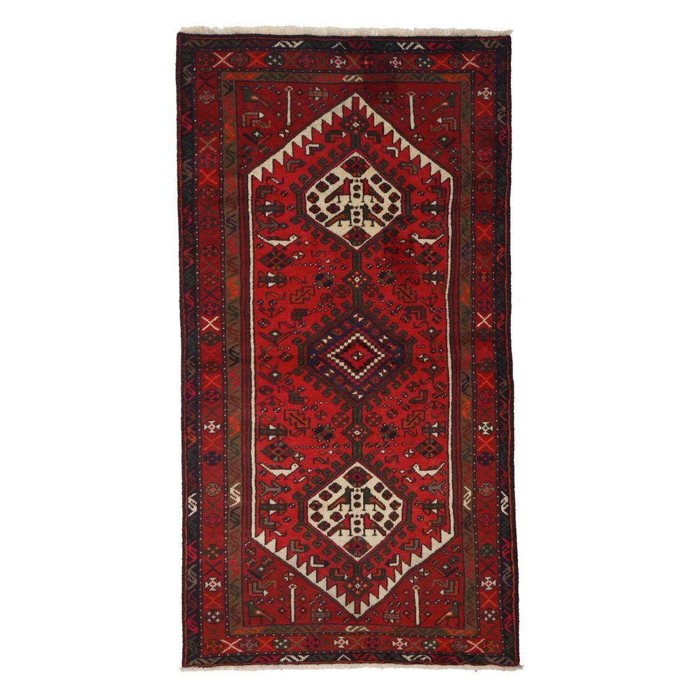 Darya Rugs Authentic Red 3 ft. 5 in. x 6 ft. Indoor Area Rug
