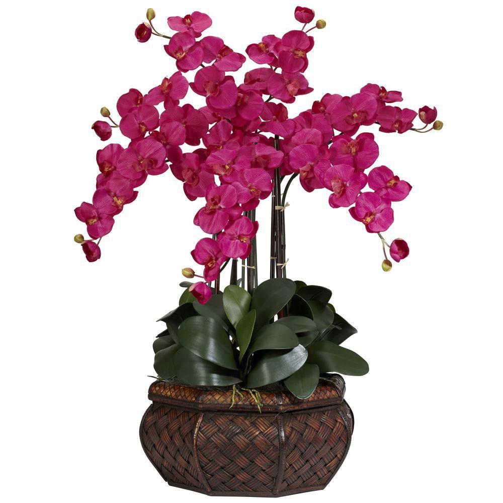 30 in. H Beauty Large Phalaenopsis Silk Flower Arrangement