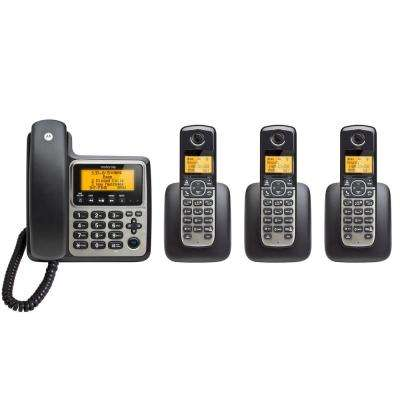 4-Handset Corded/Cordless Home Phone with Answering System