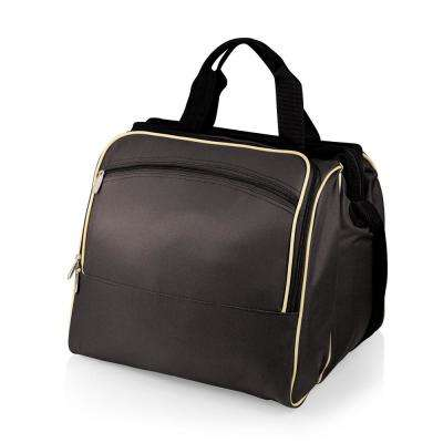 Verdugo Black Wood Picnic Cooler Tote