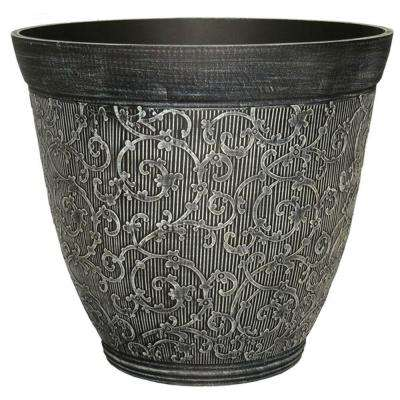 16 in. Chalk Plastic Florence Planter