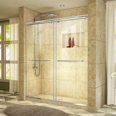 Charisma 44 to 48 in. W x 76 in. H Semi-Frameless Sliding Shower Door in Chrome