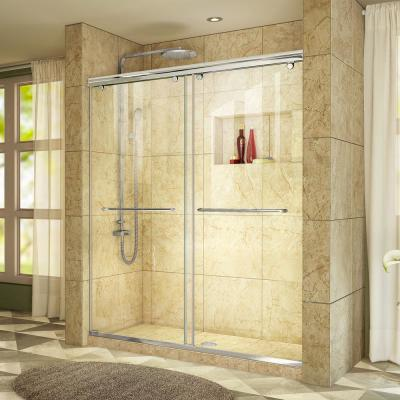 Charisma 56 to 60 in. W x 76 in. Semi-Frameless Sliding Shower Door in Chrome