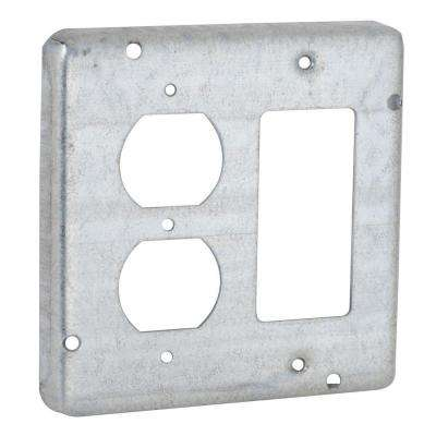 4-11/16 in. Square Two-Gang Exposed Work Cover for GFCI and Duplex Devices (10-Pack)