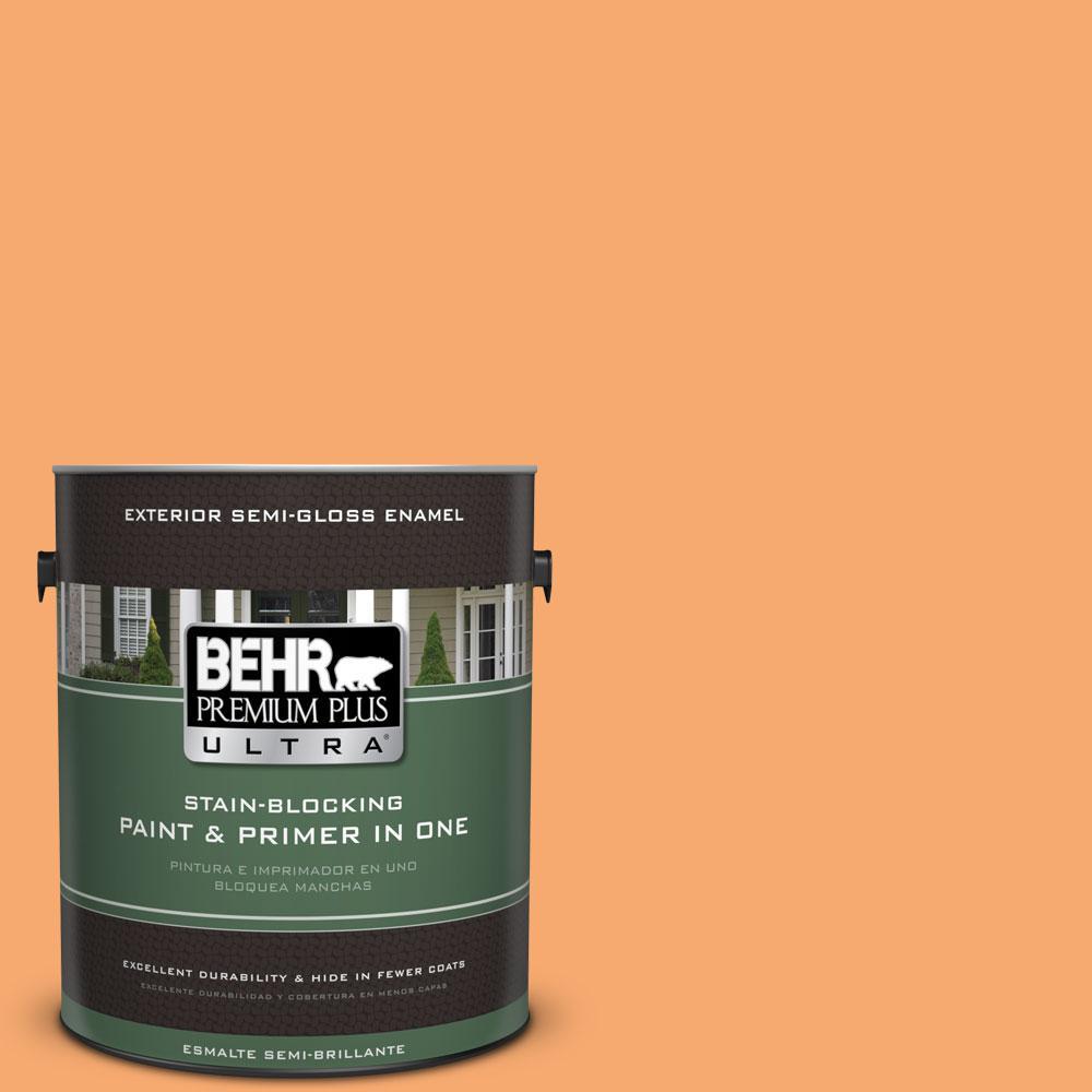 BEHR Premium Plus Ultra 1-gal. #P230-5 Florida Sunrise Semi-Gloss Enamel Exterior Paint
