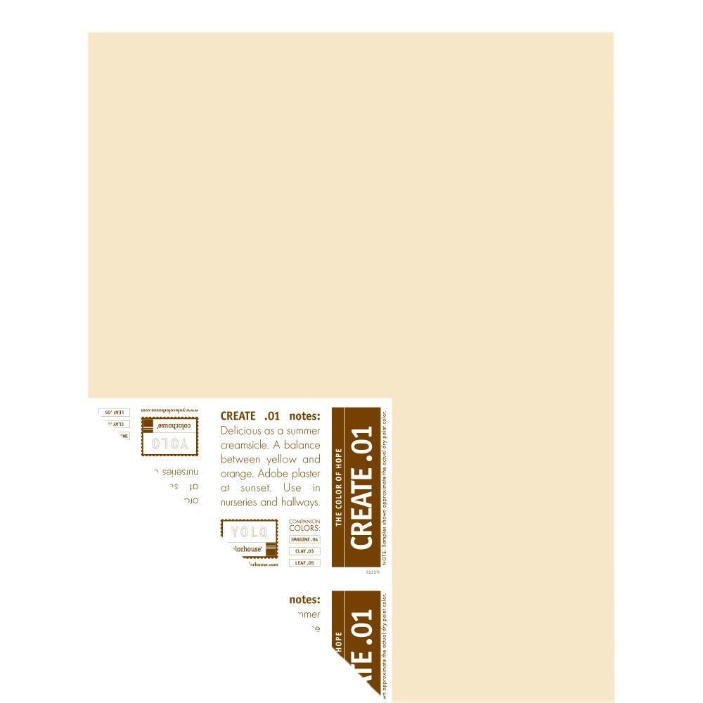 YOLO Colorhouse 12 in. x 16 in. Create .01 Pre-Painted Big Chip Sample