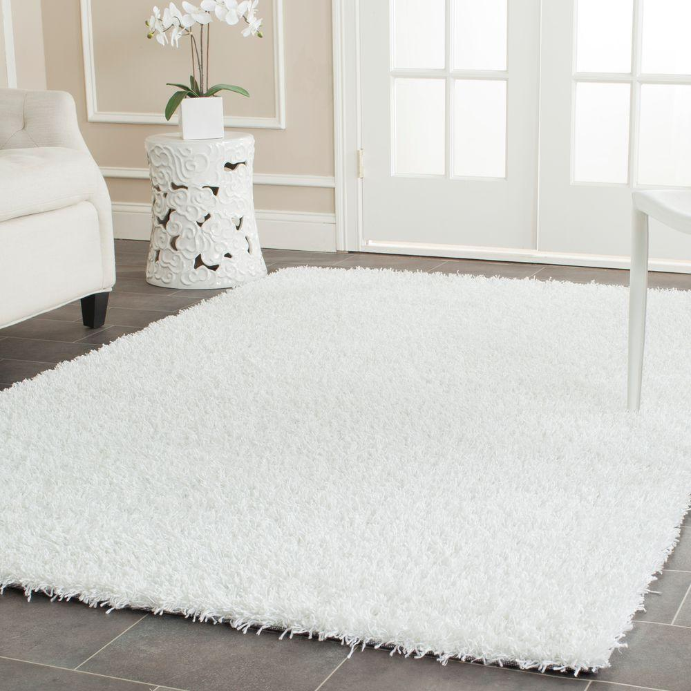 white area rug safavieh monterey shag white 8 ft x 10 ft area rug 28834