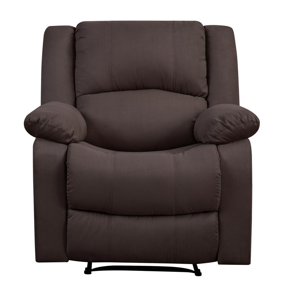 Preston Chocolate Microfiber Recliner Chair