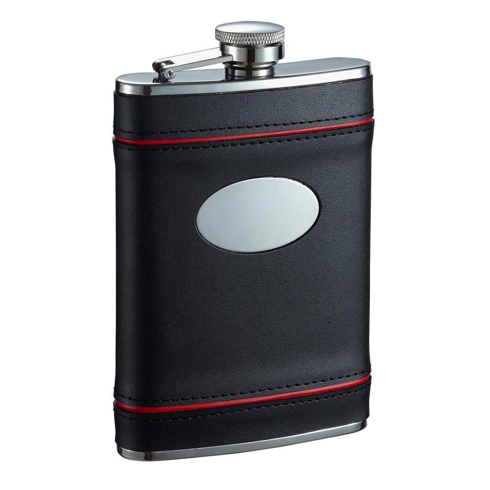Rouge en Noir Black and Red Liquor Flask