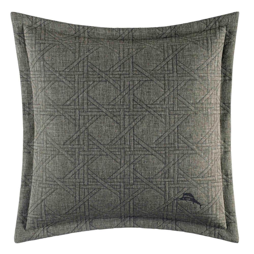 Palms Away Woven Stripe 18 in. x 18 in. Throw Pillow, Grey Elevate your bedroom or living room with this plush accent pillow featuring subtle lattice pattern across the front and back of the pillow. This stunning pillow will surely transform any room into a relaxing, tropical escape. Pair with your current bedding ensemble or pair it with the rest of the Palms Away Collection for a more coastal look. Pillow is machine washable for easy care and features an envelope closure. Pillow (18 in. x 18 in.). Color: Grey.