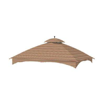 Standard 350 Stripe Canyon Replacement Canopy Top Set for 10 ft. x 12 ft. Massillon Gazebo