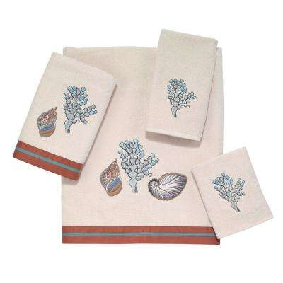 Seabreeze 4-Piece Bath Towel Set in Ivory