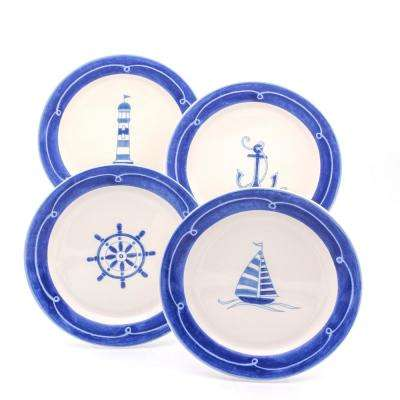 Ahoy 4-Piece Assorted Salad Plate Set