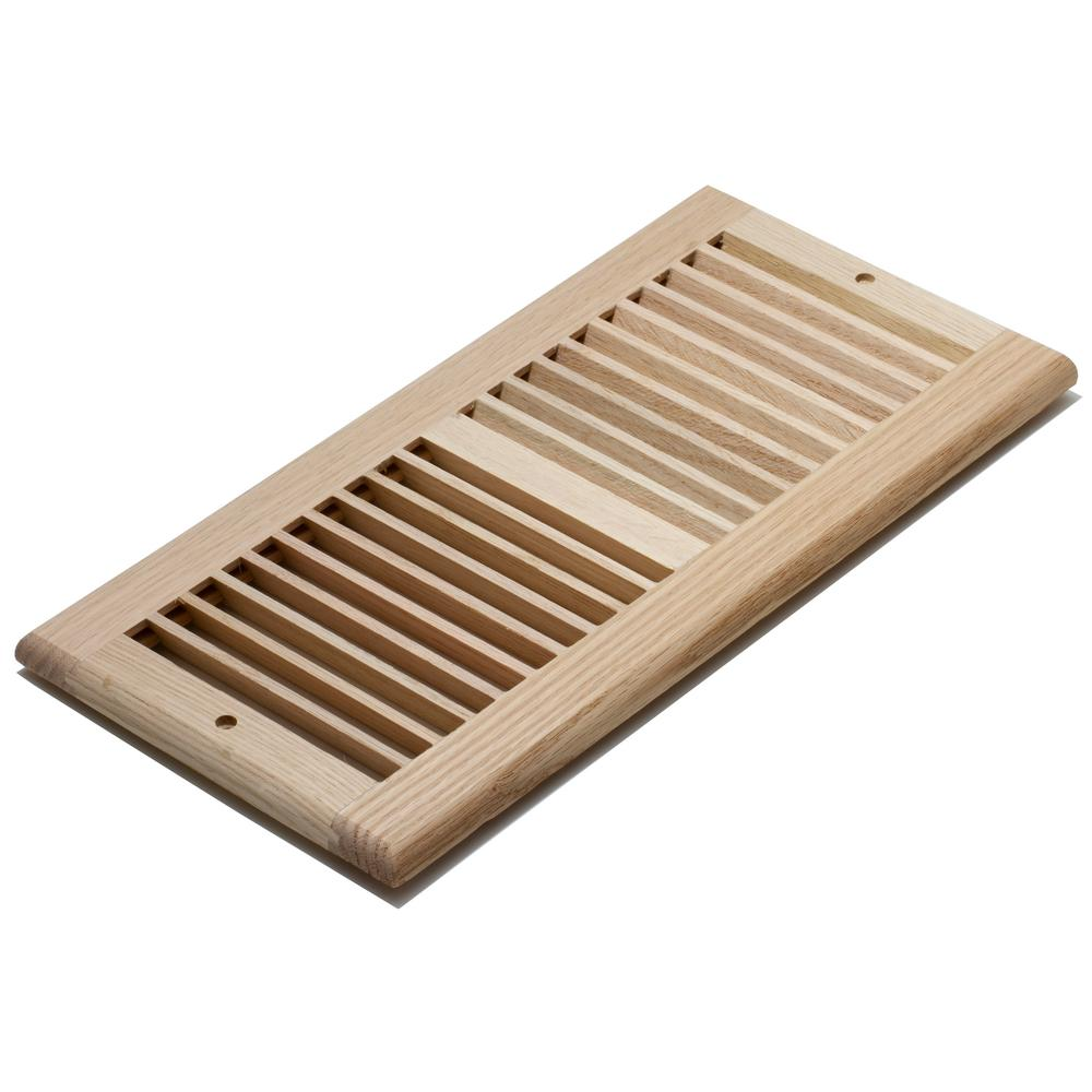 Decor Grates 6 In X 14 In Wood Unfinished Oak Louvered