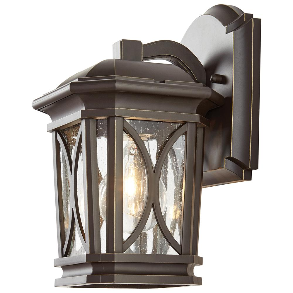 Home decorators collection 1 light bronze with brass for Home decorations catalog