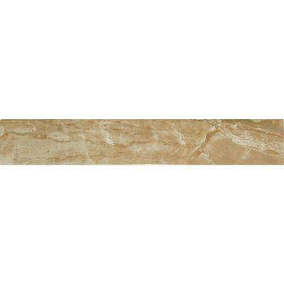 Onyx Royal Bullnose 3 in. x 18 in. Polished Porcelain Wall Tile (15 lin. ft. / case)