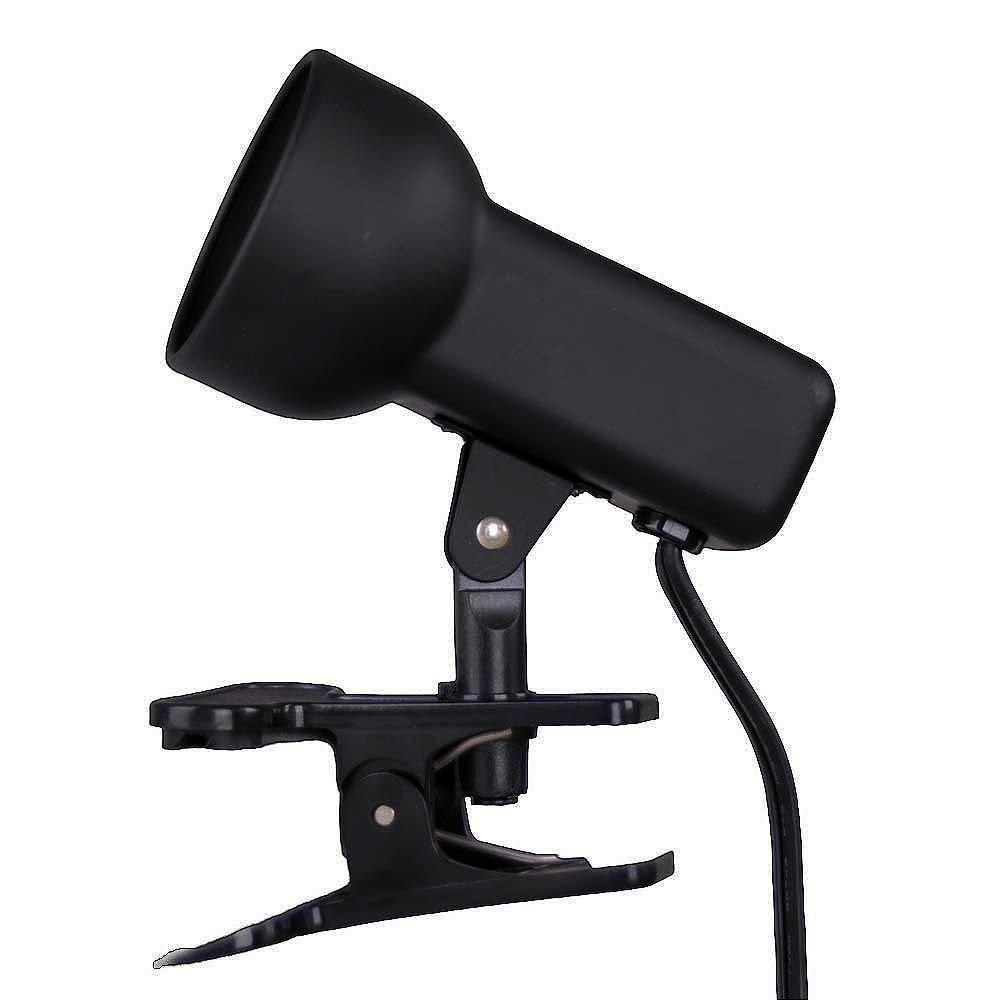 Black Portable Clip-On Lamp Hampton Bay 2-1/2 in. Lamp-EP602BK - The Home