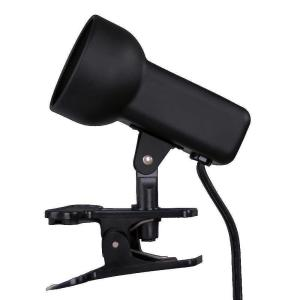 Hampton Bay 2-1/2 inch Black Portable Clip-On Lamp by Hampton Bay