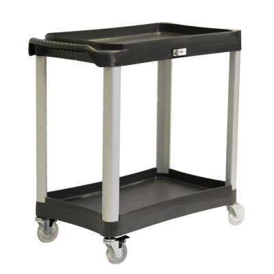 EcoStorage 2-Tier Commercial Grade Utility Cart in Black