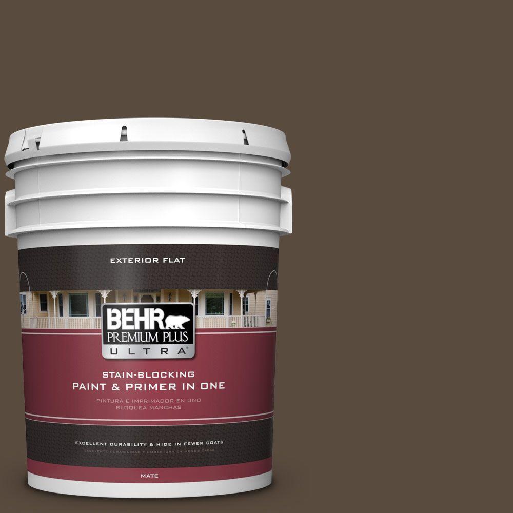 BEHR Premium Plus Ultra 5-gal. #S-H-710 Dried Leaf Flat Exterior Paint