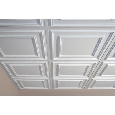 Cambridge White 2 ft. x 2 ft. Lay-in or Glue-up Ceiling Panel (Case of 6)
