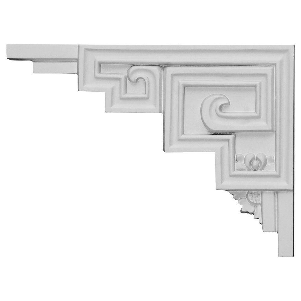 1/2 in. x 9 in. x 6-1/2 in. Polyurethane Left Eris Stair Bracket Moulding