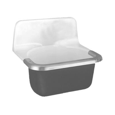 Lakewell 22 in. x 18 in. x 20.25 in. Cast Iron Enameled Service Sink in White