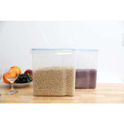 Large BPA-Free Plastic Food Cereal Containers with Airtight Spout Lid (Set of 2)