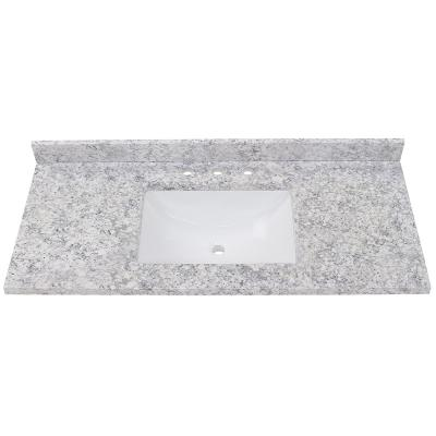 49 in. Stone Effect Vanity Top in Everest with White Sink