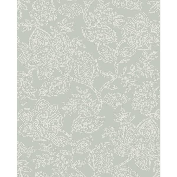 Larkin Sage Floral Paper Strippable Roll (Covers 56.4 sq. ft.)