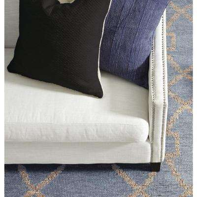 Textured Cotton 22 in. x 22 in. Square Solid Onyx Decorative Pillow
