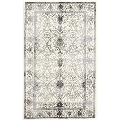 La Jolla Traditional Gray 3' 3 x 5' 3 Area Rug