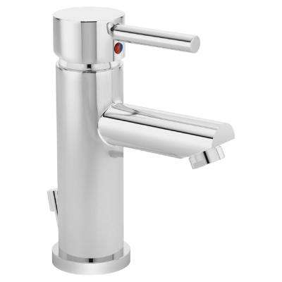 Dia Single Hole Single-Handle Bathroom Faucet with Drain Assembly in Chrome