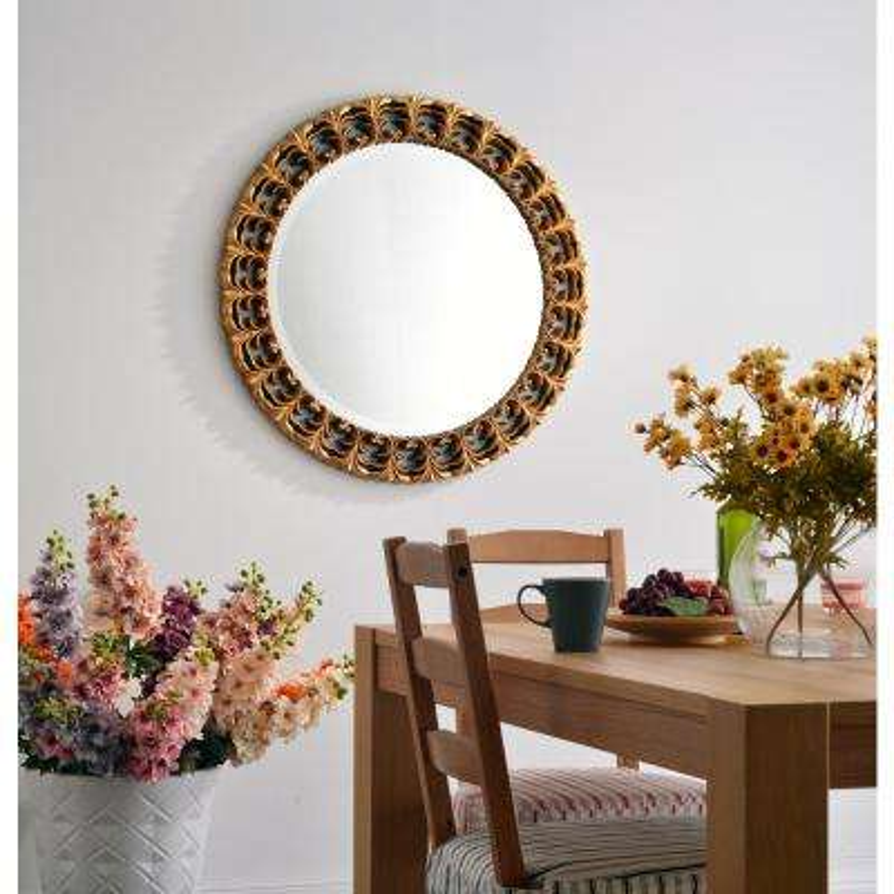 bontemps 34 in x 34 in gold framed wall mirror