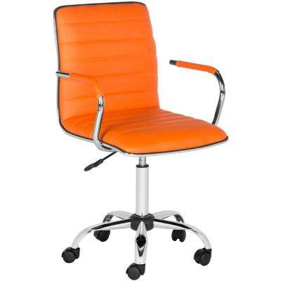 orange office furniture workstation jonika orange leather office chair adjustable height desk chairs home