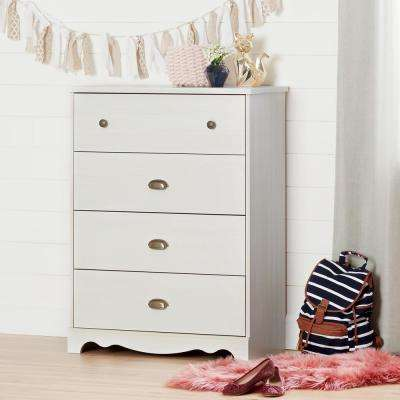 Caravell 4-Drawer Chest in White Wash