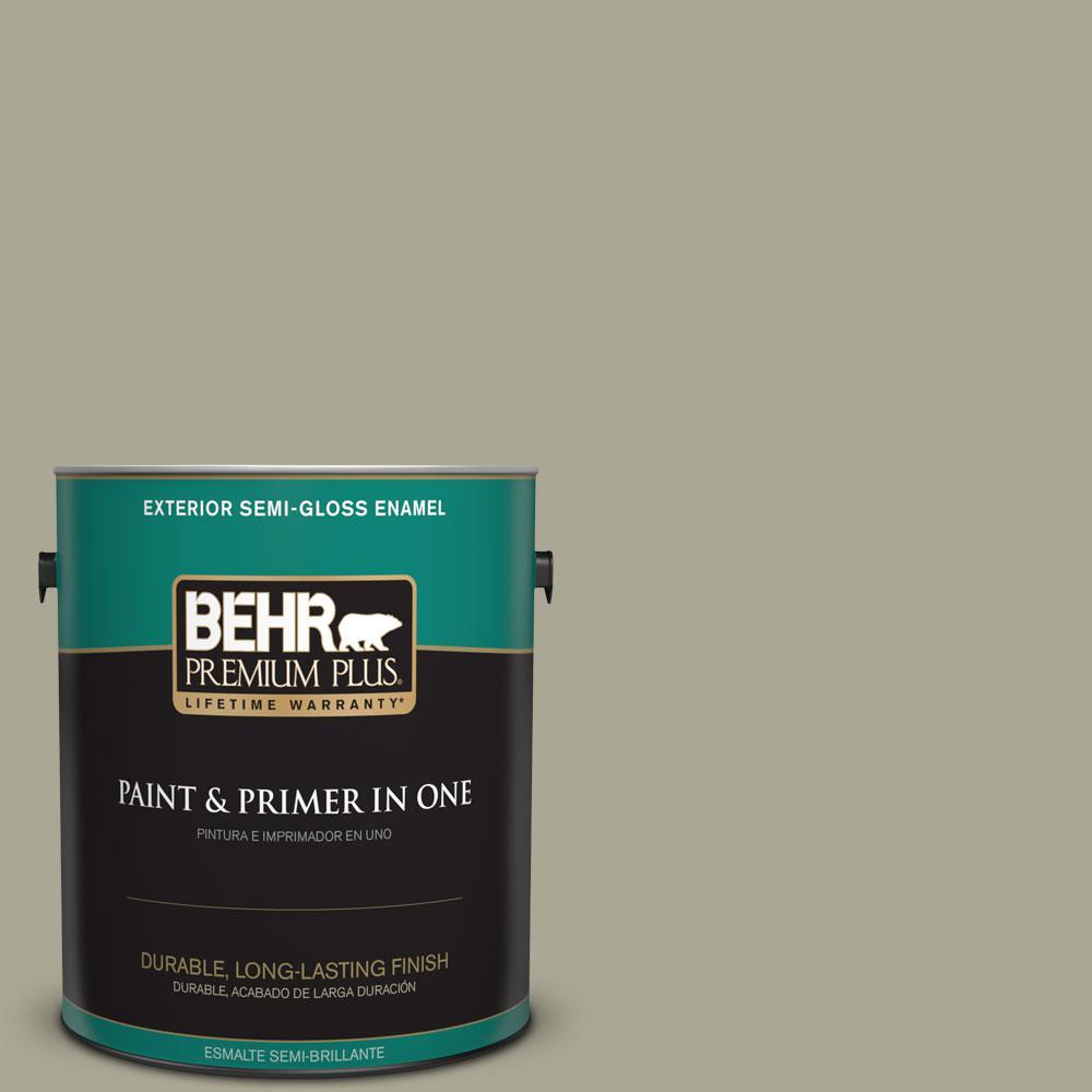1-gal. #N350-4 Jungle Camouflage Semi-Gloss Enamel Exterior Paint