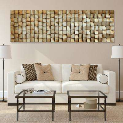 """72 in. x 22 in. """"Textured 2"""" Mixed Media Wooden Hand Painted Dimensional Wall Art"""