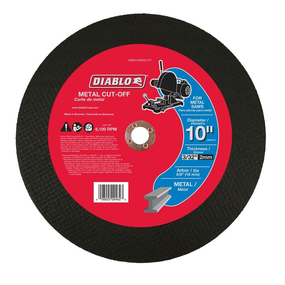 Diablo 10 in x 332 in x 58 in metal cut off disc dbd100093l01f store sku 303170 greentooth Gallery