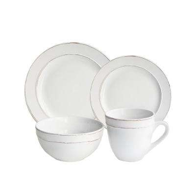 16-Piece Olivia White Dinnerware Set
