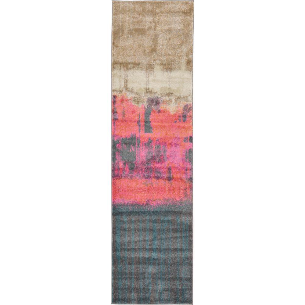 Aurora Pink 2 ft. 7 in. x 10 ft. Runner Rug