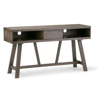 Dylan Solid Wood 54 in. Wide Rustic Console Table in Driftwood