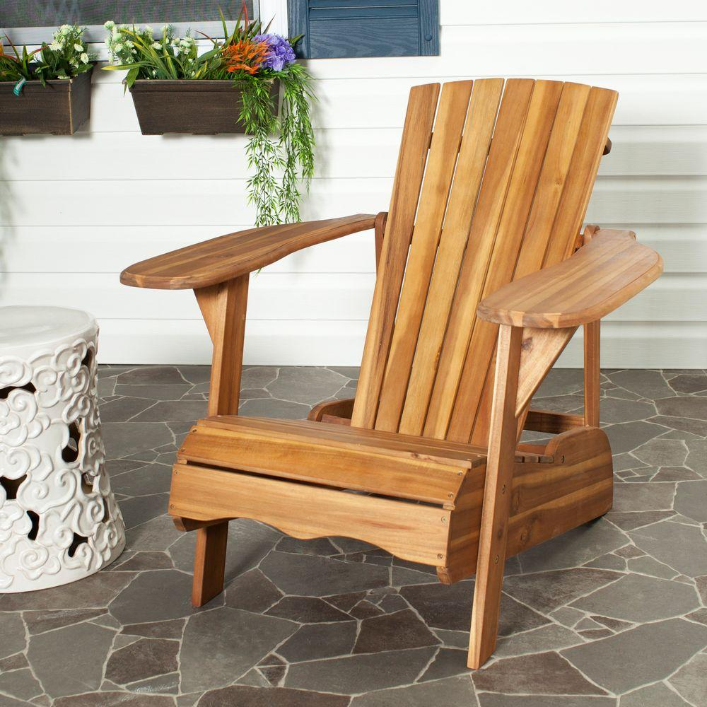 Safavieh mopani all weather patio lounge chair in natural 1 piece pat6700c the home depot